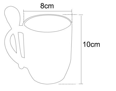 photo mug with spoon