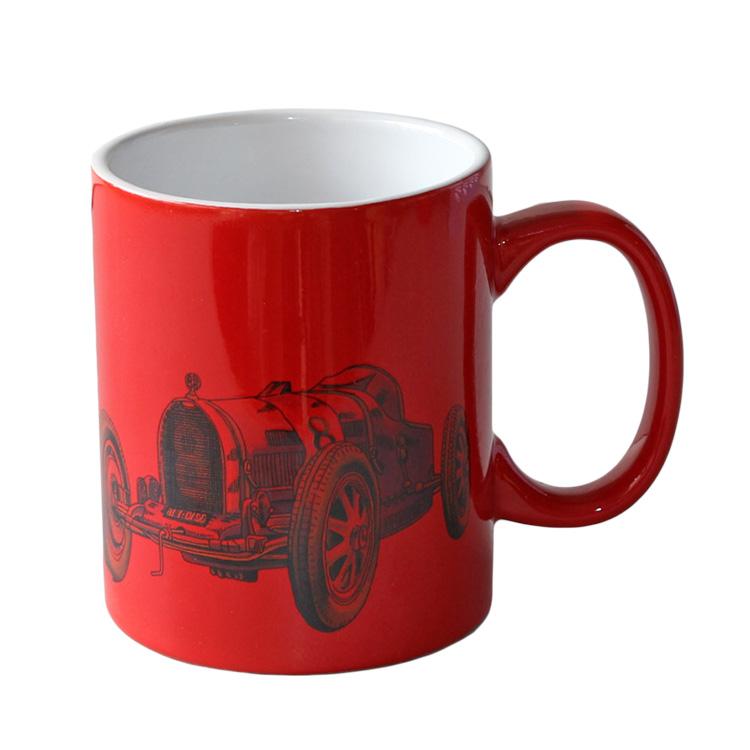 11oz round red mug