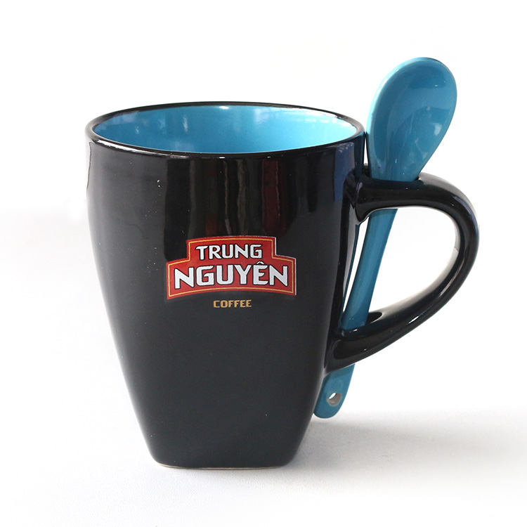 square foot mug with spoon